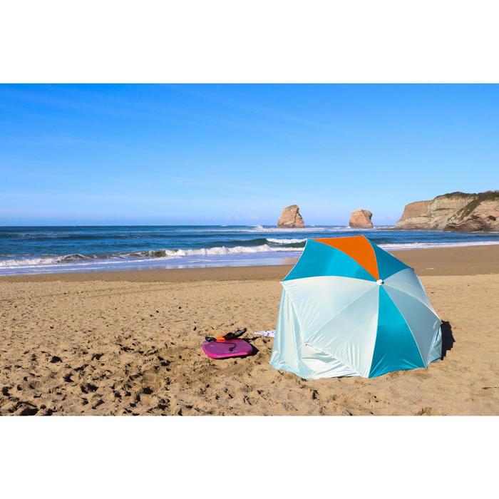 Guarda-sol PARUV Windstop azul turquesa laranja UPF50+ 2 lugares