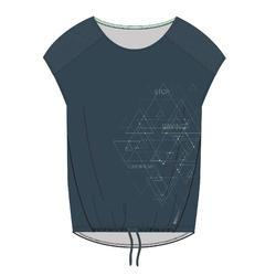 女款有氧健身訓練T恤120 - 藍色