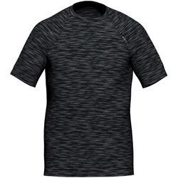 T-shirt fitness Cardio Training homme gris noir chiné 500