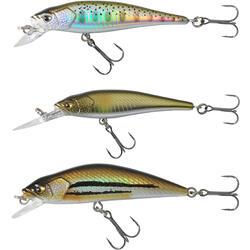 Kunstvisjes voor kunstaasvissen jerkbait minnow set forel 3 vissen