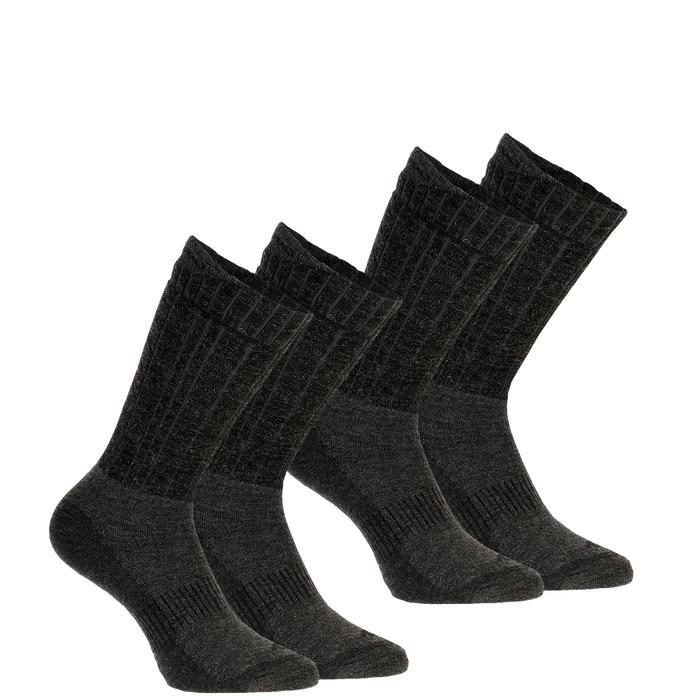 Wandersocken Merino SH500 Ultra-Warm halbhoch 2er-Pack Erwachsene schwarz