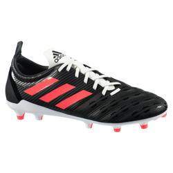 Chaussure de rugby terrain sec moulée Malice FG adulte noir Adidas