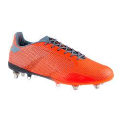 Hybride rugbyschoenen voor heren gemengd terrein Score R900 SG oranje