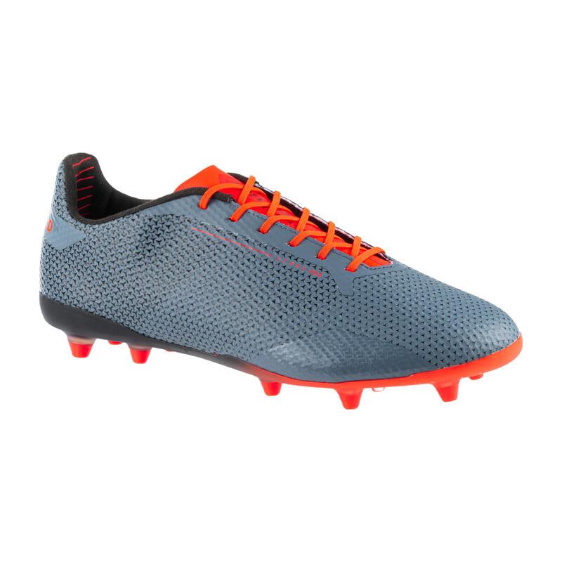 Rugbyschoenen voor heren droog terrein Score 900 FG grijs/oranje