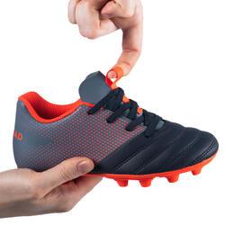 Rugbyschoenen voor kinderen vaste noppen FG R100 easy laces rood