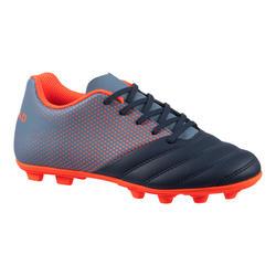 Rugbyschoenen voor kinderen R100 blauw rood vaste noppen droog terrein