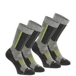 2 paar sokken voor trekking in de winter Forclaz Warm