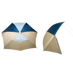 Strandmuschel Iwiko 180 mit UPF50+ 3 Plätze beige/mintgrün