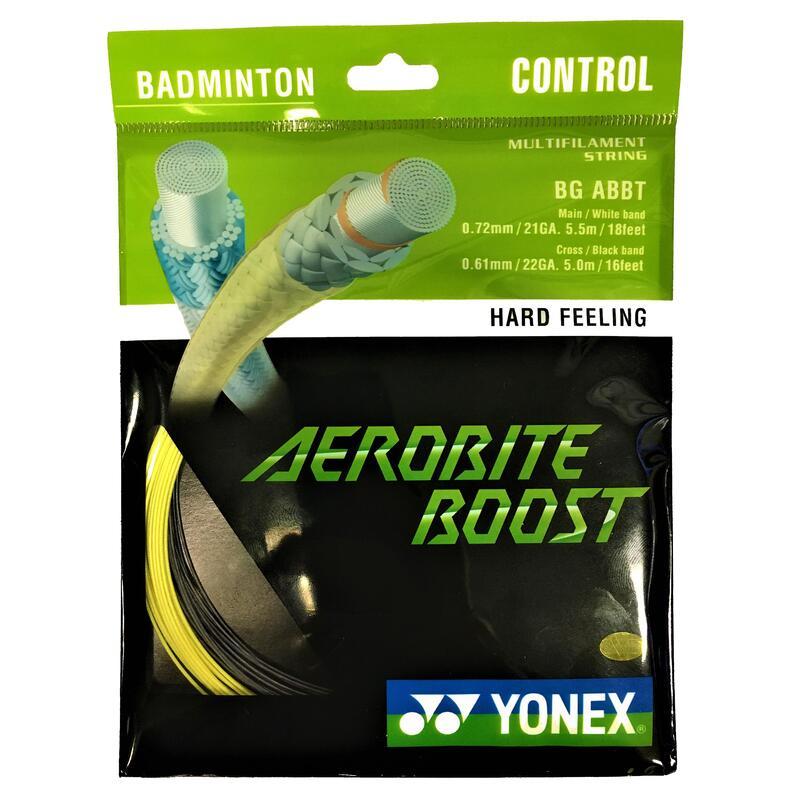 Badminton Stringing Aerobite Boost - Black/Yellow