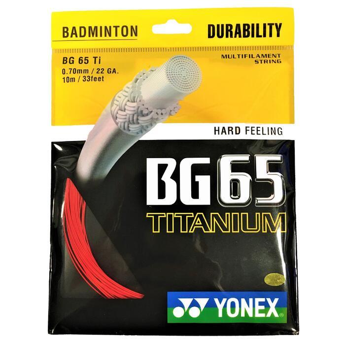 CORDAGE DE BADMINTON BG 65 TI ROUGE