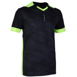 Adult Football Shirt F500 - Black/Neon Yellow