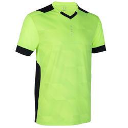 成人款足球上衣F500-螢光黃