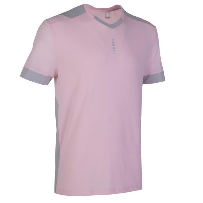 成人款足球上衣F500 - 淺粉色