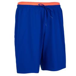成人款足球短褲F500-藍橘配色
