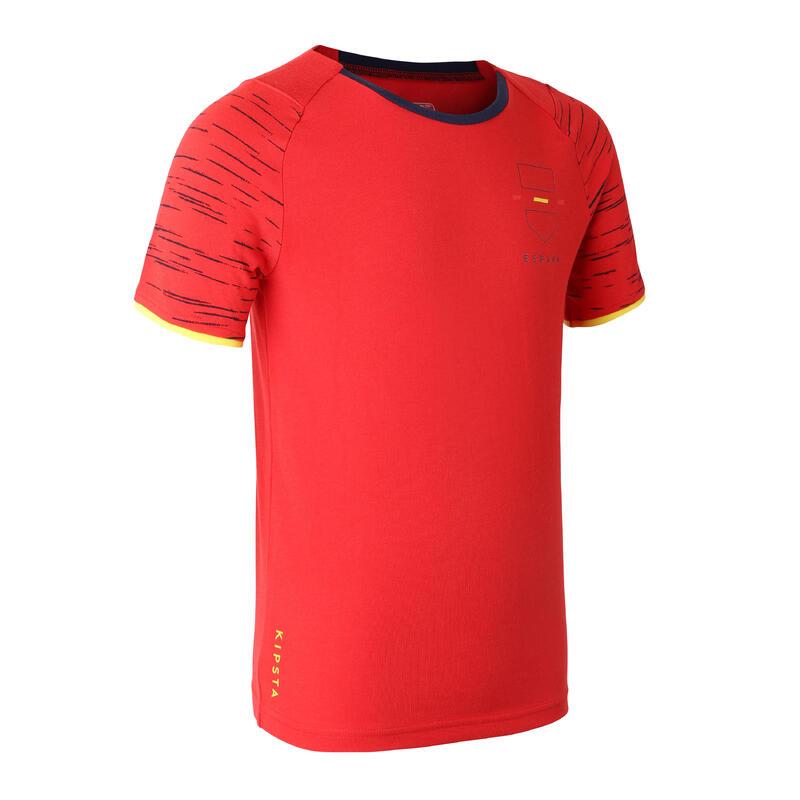 Camiseta España Kipsta FF100 niños