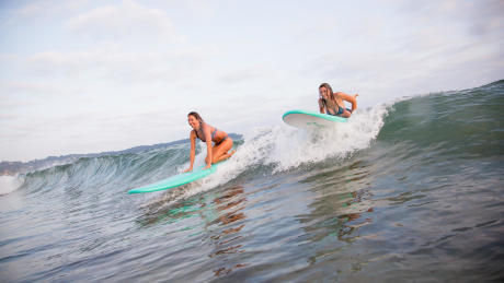 Soft top surfboards are fun