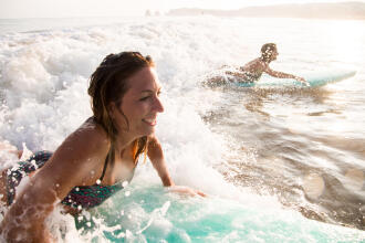 Positive effects surfing