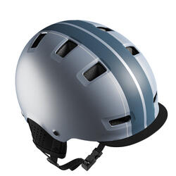 Casco bici città bowl 500 blu-grigio