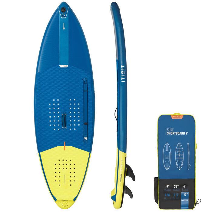 Tabla de Stand Up Paddle Surf 500 Hinchable Itiwit Shortboard 9' 160L