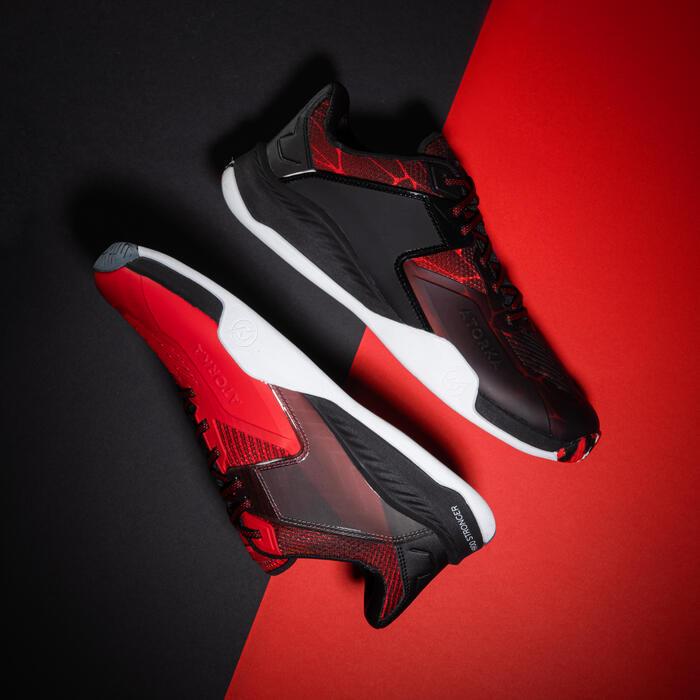 Chaussures de handball homme H900 STRONGER magma noir