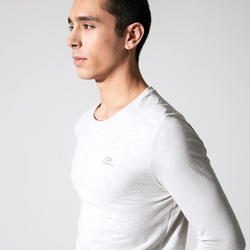 T-shirt running manches longues Run Dry + Beige