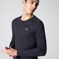 Hardloopshirt met lange mouwen voor heren Run Dry + Feel zwart