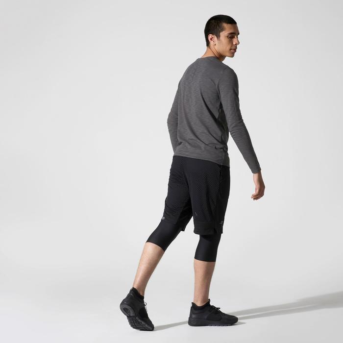 RUN DRY+ LONG-SLEEVED RUNNING T-SHIRT - GREY