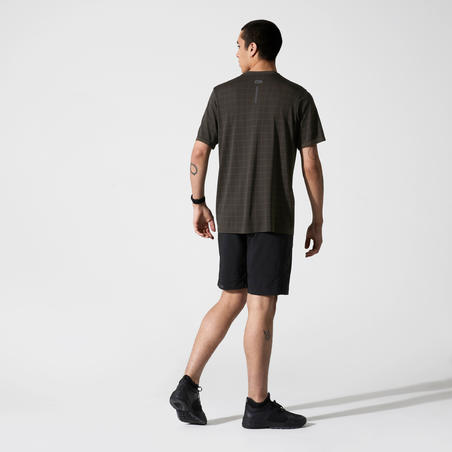 RUN DRY+ FEEL LOOSE-FITTING T-SHIRT - KHAKI