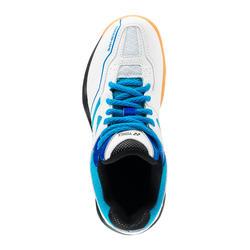 Chaussure de BADMINTON et sports indoor Yonex POWER CUSHION 36 JR Blanc/Bleu