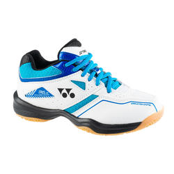 Chaussure de BADMINTON et sports indoor Yonex POWER CUSHION 36 JR Blanc/Bleu