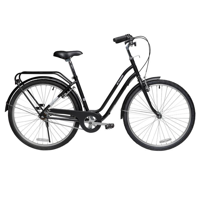 Elops Low Frame City Bike 100 - Black