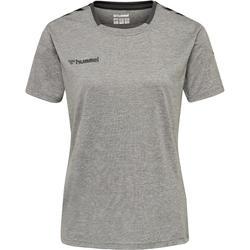 Handballtrikot Authentic Damen grau/schwarz