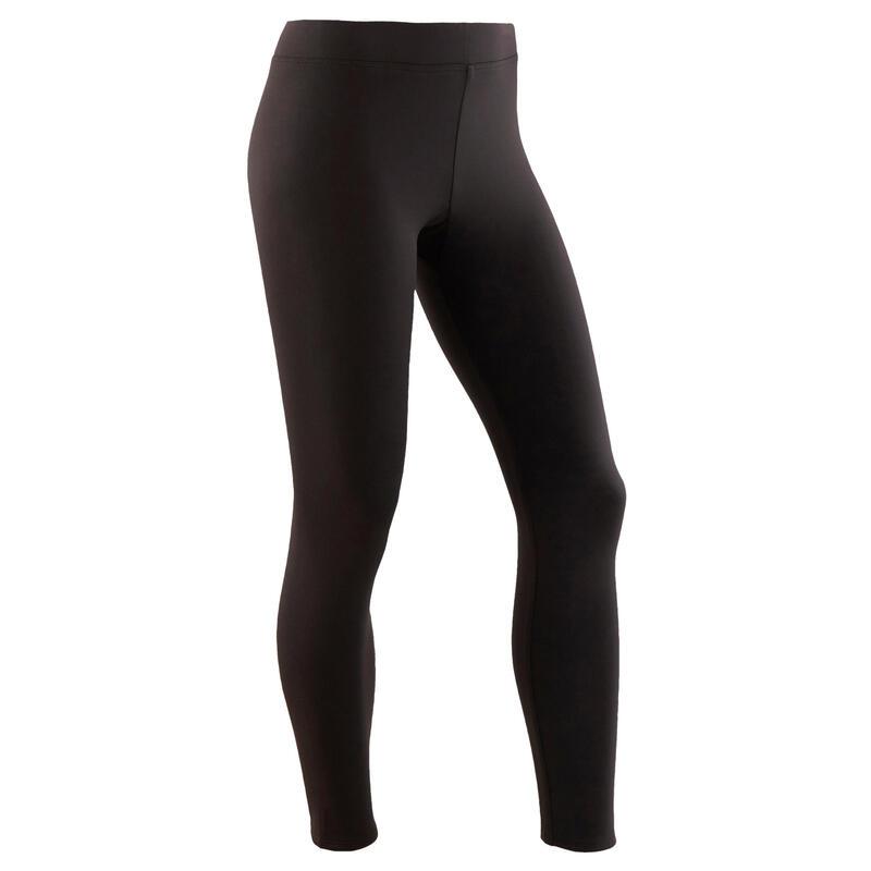 Warme en ademende legging voor gym meisjes S500 synthetisch zwart