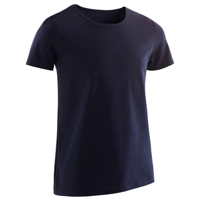 BOY EDUCATIONAL GYM APPAREL Clothing - Boys' Gym T-Shirt 100 - Navy DOMYOS - By Sport