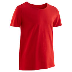 Boys' Gym Short-Sleeved T-Shirt 100 - Red