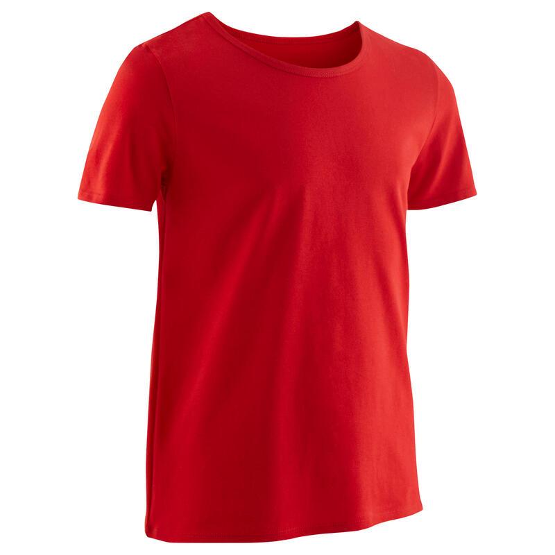 Basic T-shirt voor kinderen rood