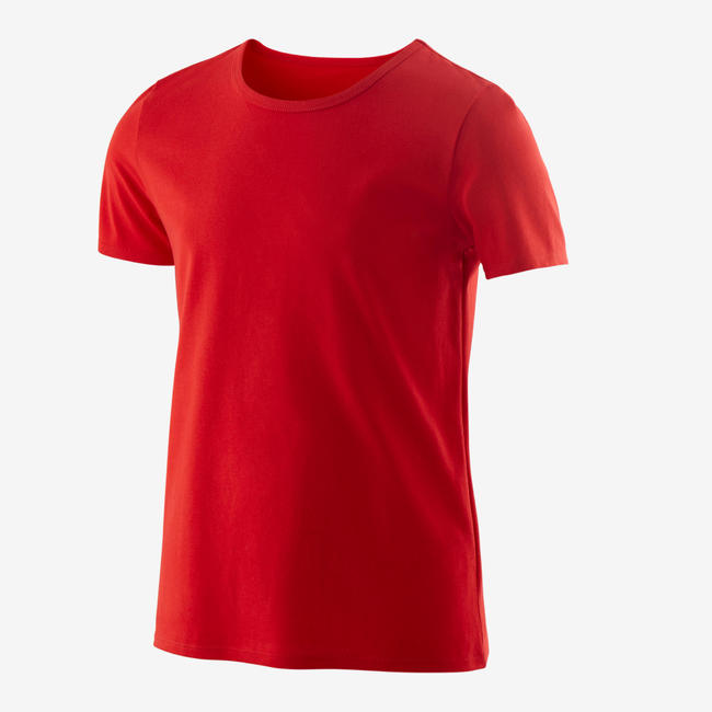 Boys' Gym Short-Sleeved T-Shirt 100 - Red