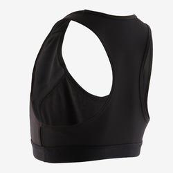 Brassière Pad 500 coton respirant fille GYM ENFANT noir