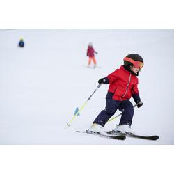 搭配固定器BOOST 500的兒童下坡滑雪板 - 藍色