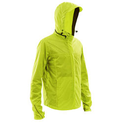 100 Cycling Rain Jacket - Neon Yellow