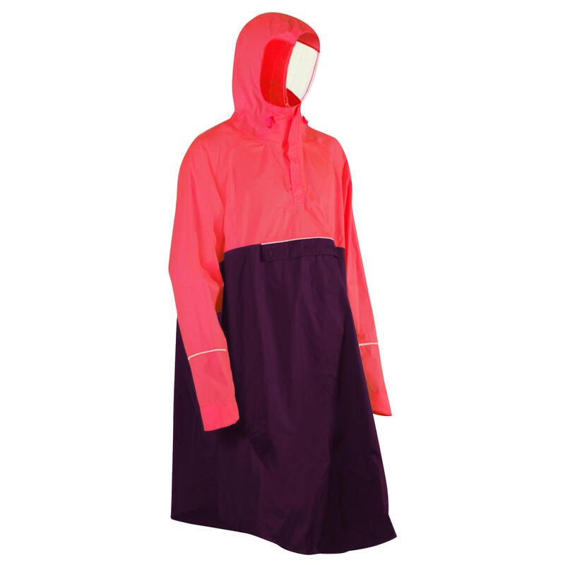 """Dviratininko lietaus pončas """"900"""", neoninis rožinis, tamsiai violetinis"""