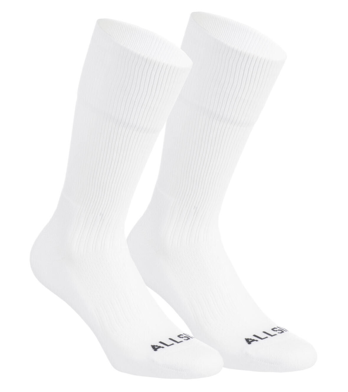 chaussettes de volleyball ALLSIX blanches