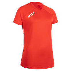 MAILLOT DE VOLLEY-BALL V100 FEMME ROUGE