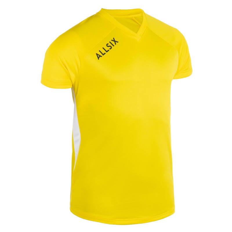 VOLEJBALOVÉ OBLEČENÍ Volejbal - DRES VTS100 ŽLUTÝ ALLSIX - Oblečení na volejbal