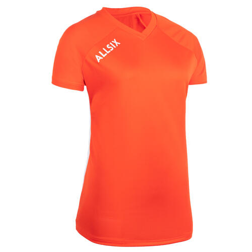 MAILLOT DE VOLLEY-BALL V100 FEMME ORANGE