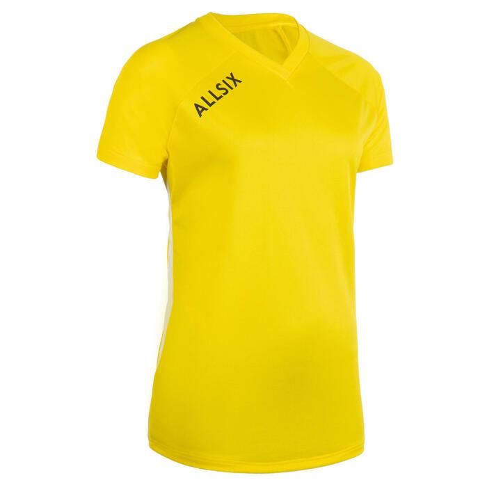 Volleybalshirt dames V100 geel