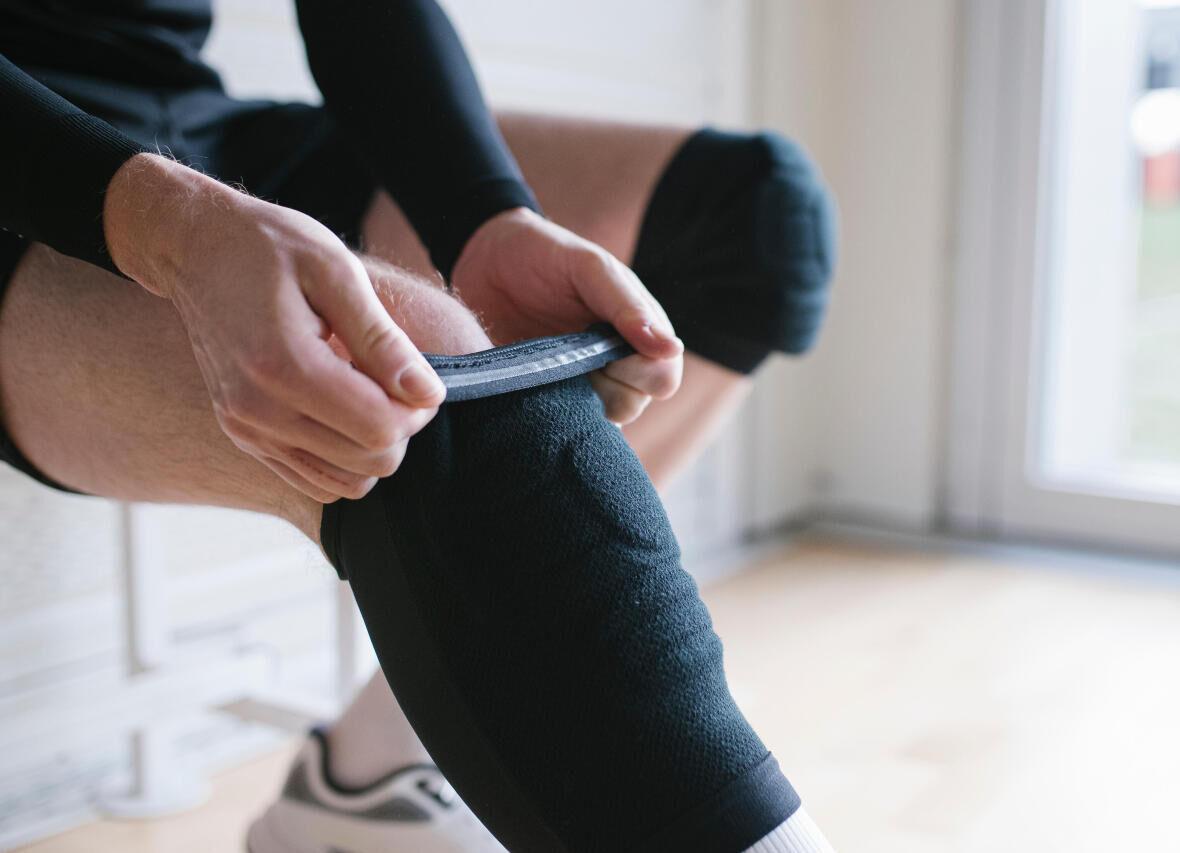 knee pad silicone strip