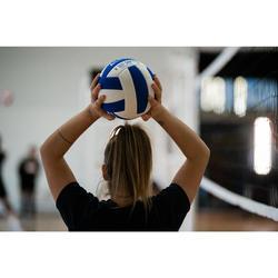 Volleyball V100 Soft 260–280 g ab 15 Jahren weiss/blau
