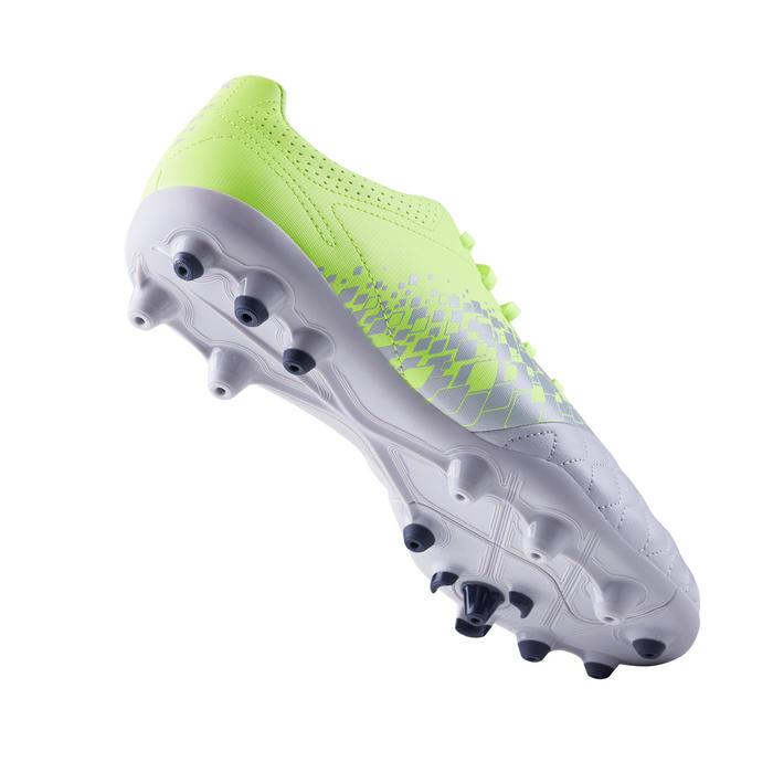 成人款混合場地足球鞋Agility 500-灰黃配色