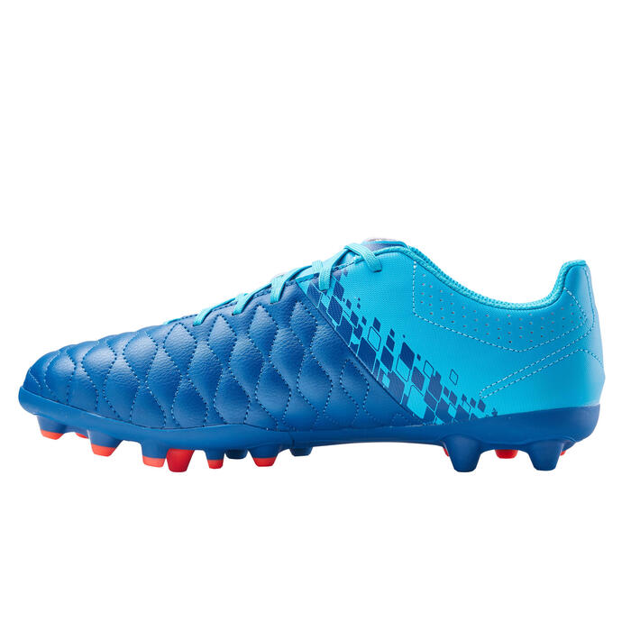 成人款混合場地足球鞋Agility 500-油藍色